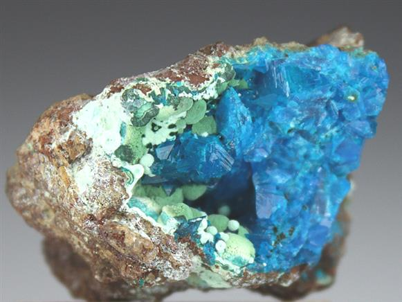 Liroconite With Strashimirite and Parnauite
