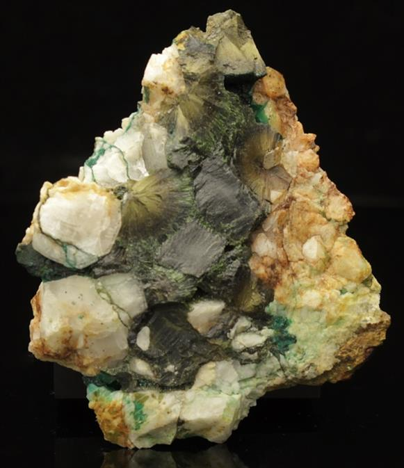 'Wood' Olivenite on Quartz