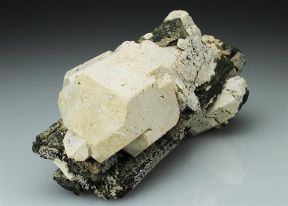 Hydroxylapatite on Hornblende