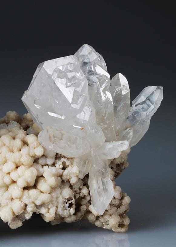 Quartz on Calcite