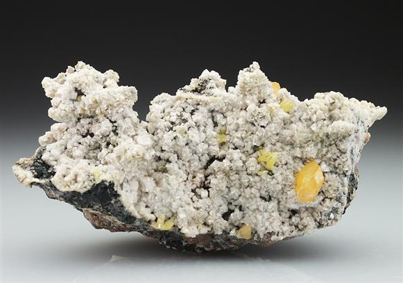Mimetite With Wulfenite on Dolomite