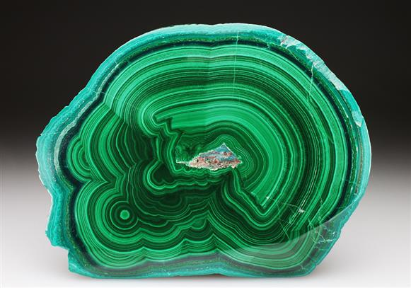 Malachite Cut and Polished