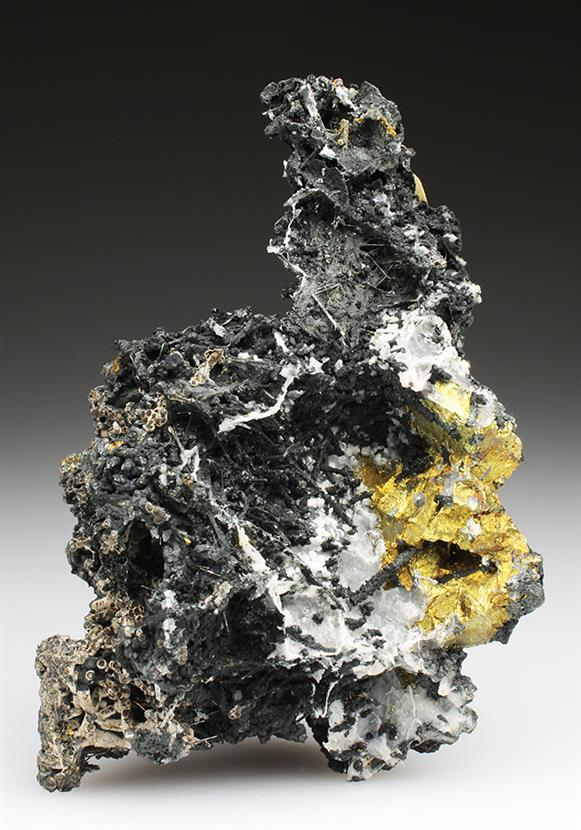 Cassiterite on Bismuthinite