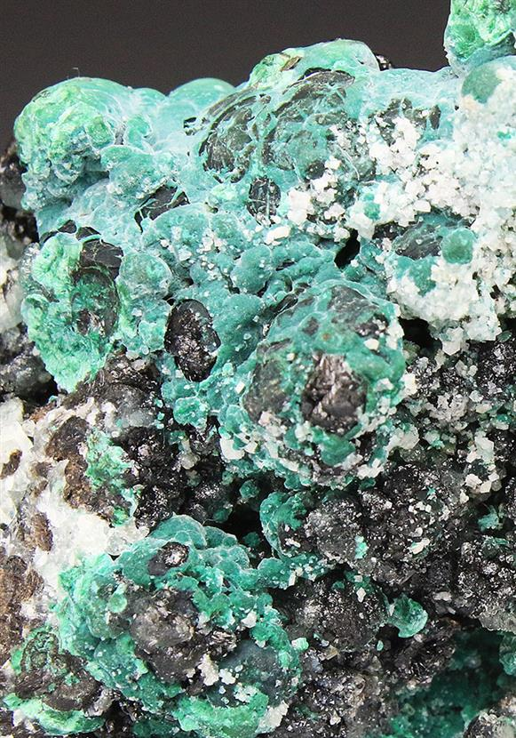 Willemite With Rosasite and Malachite