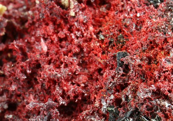 Cinnabar With Siderite and Hematite