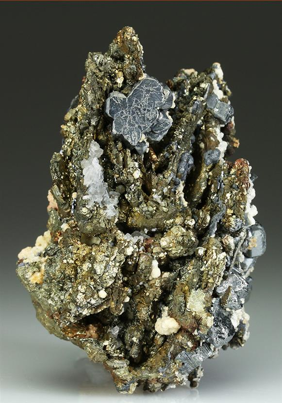 Bournonite With Pyrite After Pyrrhotite