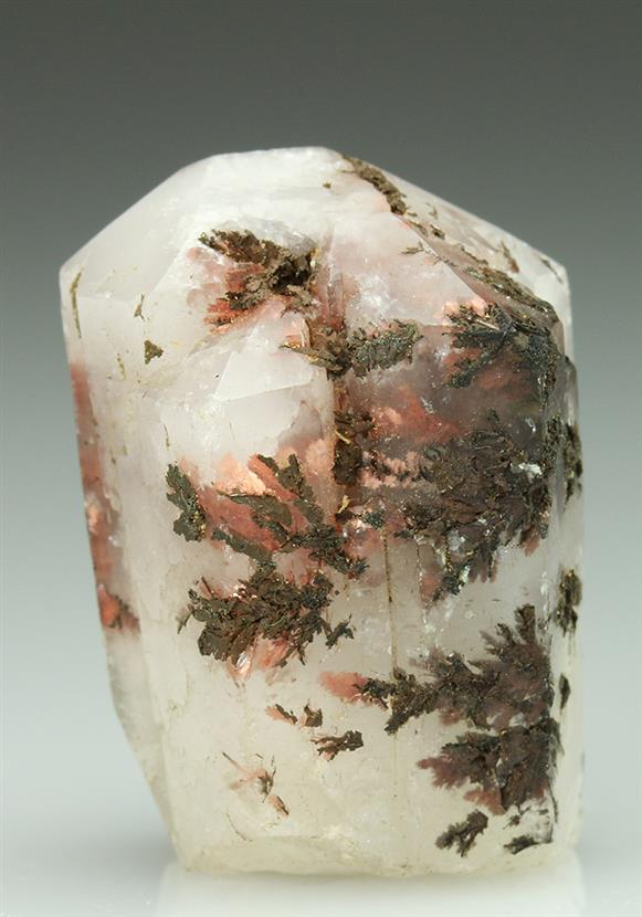 Aragonite  With Native Copper Inclusions