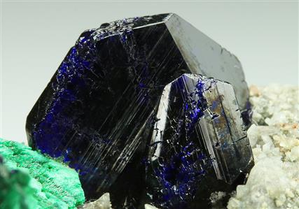 Azurite With Malachite After Azurite