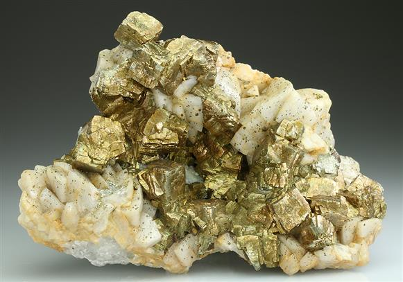 Pyrite on Dolomite