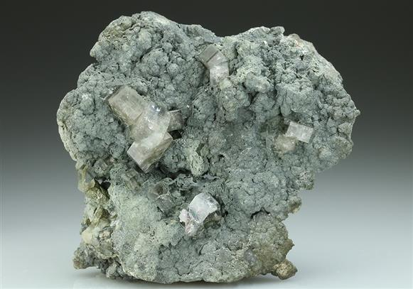 Fluorapatite on Chlorite and Quartz