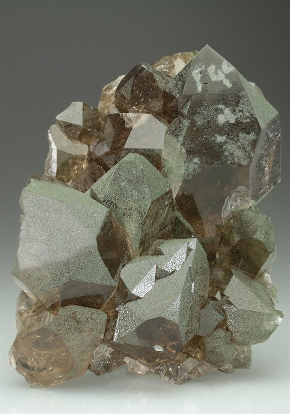 Quartz Var Smoky With Chlorite