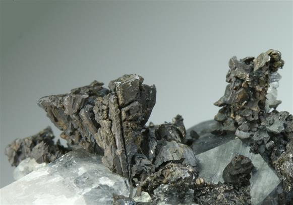 Diaphorite on Calcite