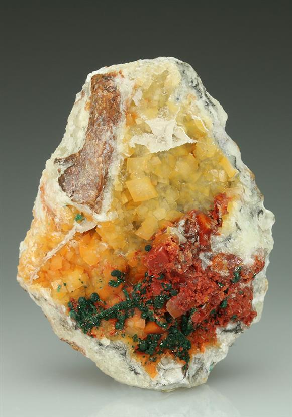Calcite Included By Chalcotrichite
