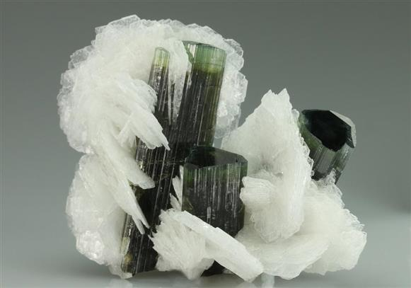 Elbaite Tourmaline With Albite