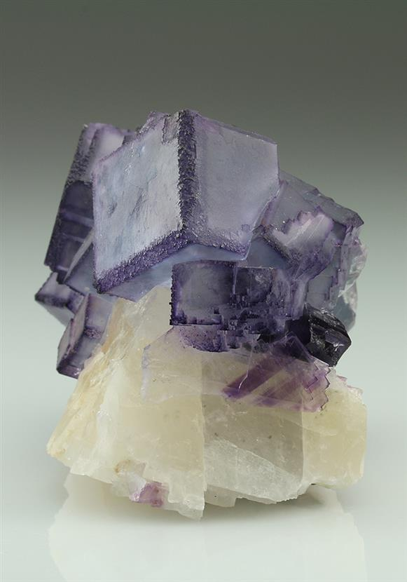 Fluorite on Calcite