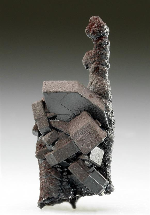 Goethite Coating Cerussite After Anglesite