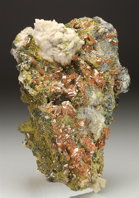 Wulfenite With Tsumcorite and Dolomite.