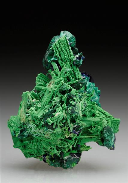 Bayldonite After Mimetite With Azurite