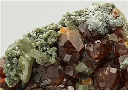 Grossular Garnet Var Hessonite With Diopside