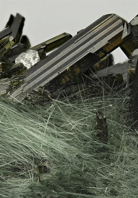 Epidote With Byssolite and Fluorapatite