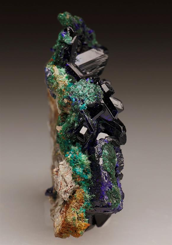 Azurite With Malachite and Dioptase
