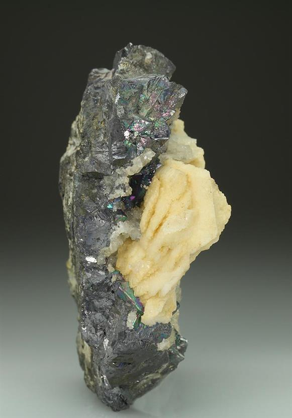 Dolomite Pseudomorph After Calcite With Galena and Quartz