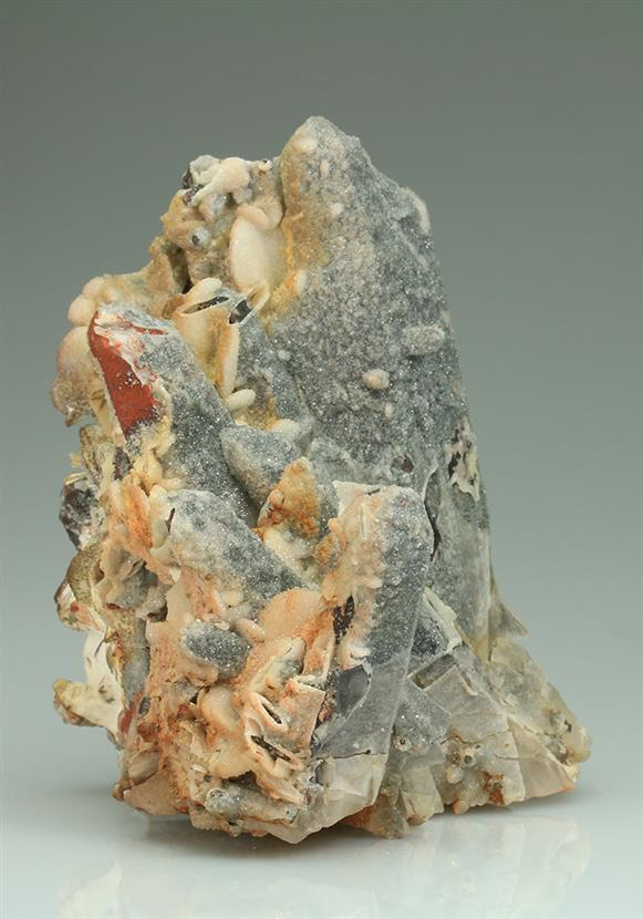 Quartz Epimorph After Siderite on Quartz