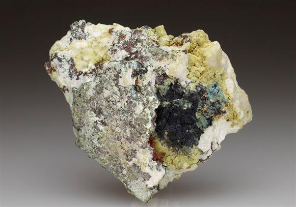 Native Copper and Cuprite With Mimetite