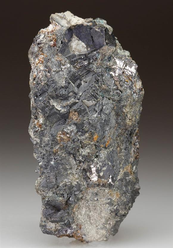 Native Silver With Galena
