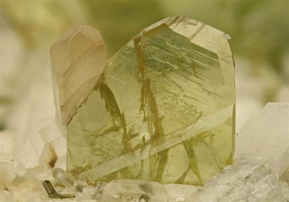 Titanite With Quartz
