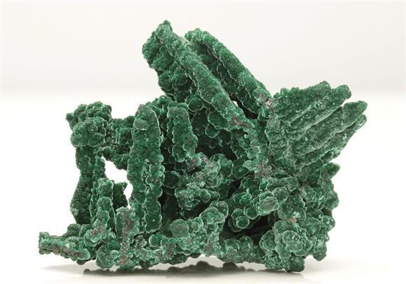 Malachite on Native Copper-cuprite