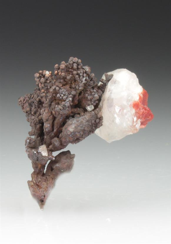 Native Copper With Calcite