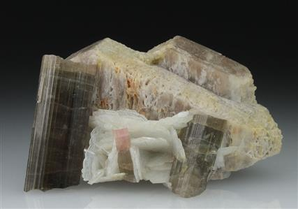 Microcline With Tourmaline and Albite