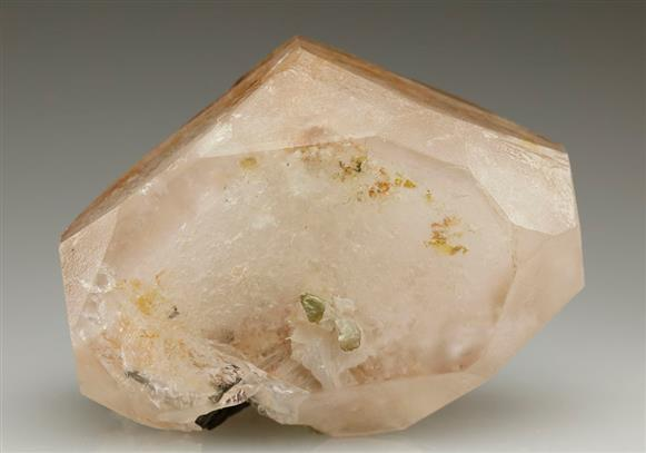 Beryl Var. Morganite With Columbite