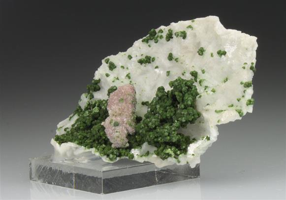 Malachite on Dolomite Cast