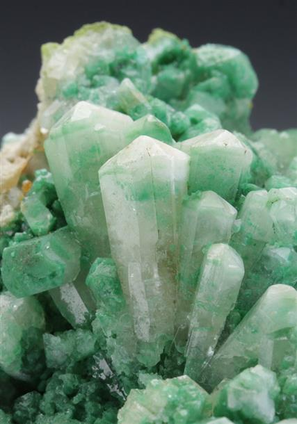 Aragonite Var Tarnowitzite With Malachite Inclusions