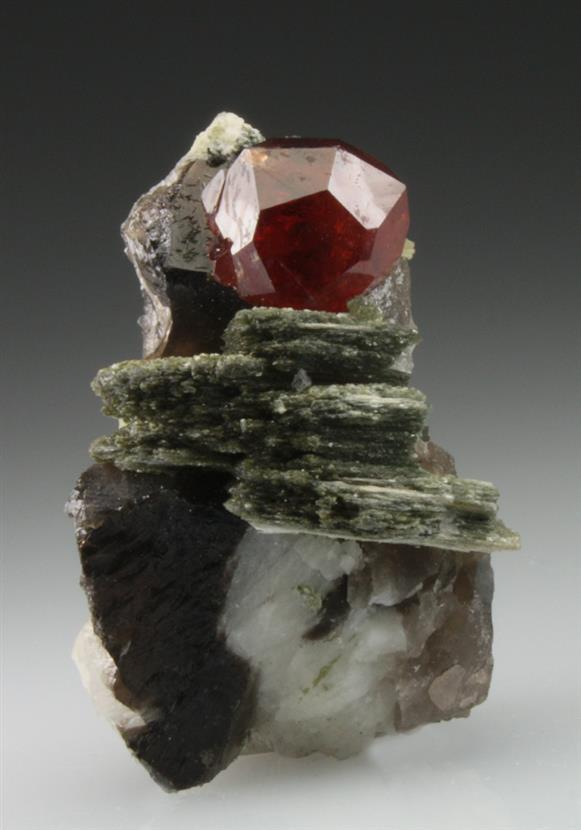 Spessartine Garnet With Muscovite
