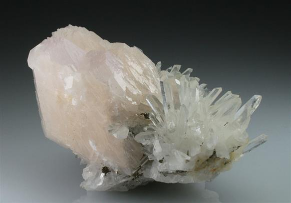 Calcite and Quartz on Dolomite