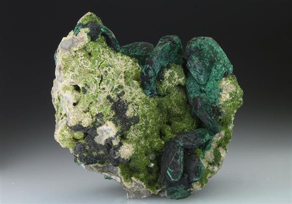 Malachite Pseudomorph After Azurite With Duftite