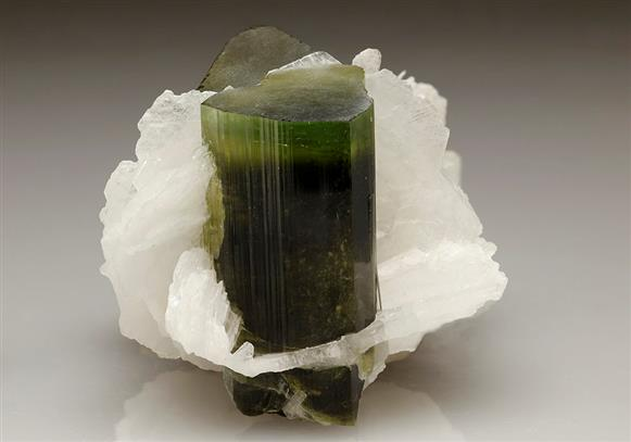 Elbaite Tourmaline With Albite Var Cleavelandite