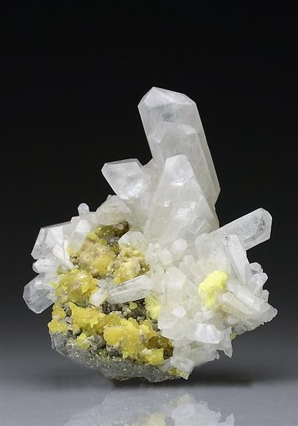 Celestite With Native Sulphur