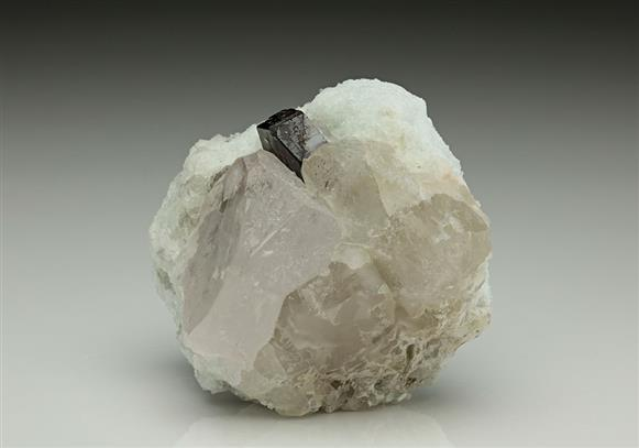 Beryl Var Morganite With Tantalite (Mn)