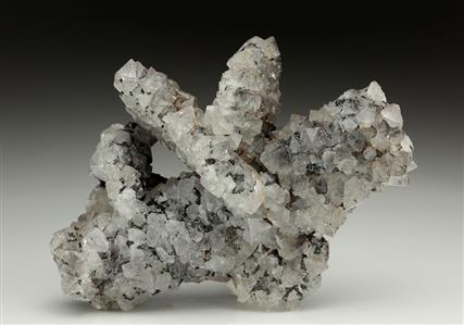 Quartz After Baryte With Hematite