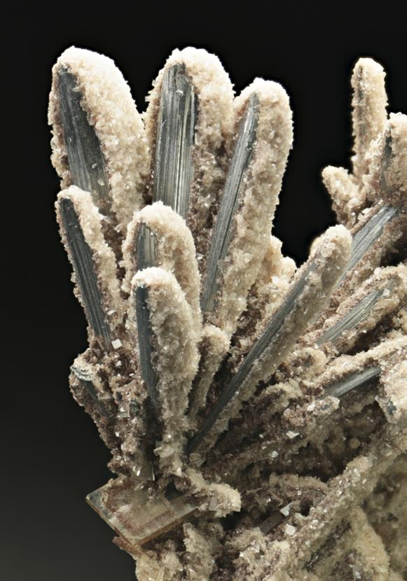 Stibnite Preferentially Coated By Baryte