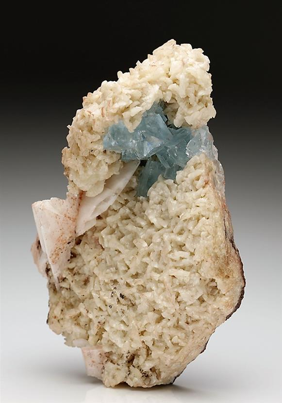 Fluorite on Dolomite With Baryte
