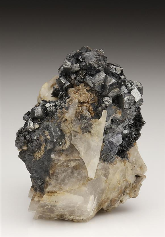 Argentopyrite on Pyrargyrite and Calcite