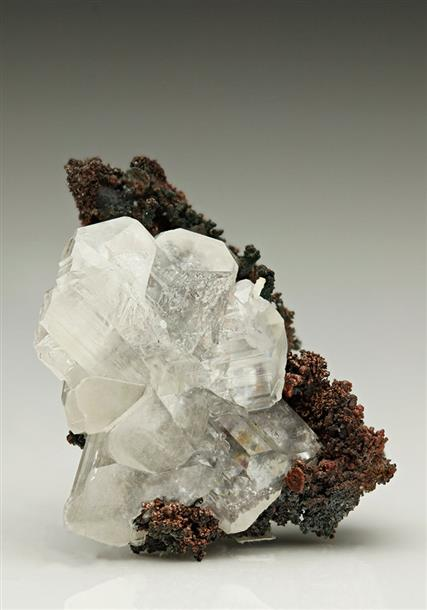 CERUSSITE on NATIVE COPPER