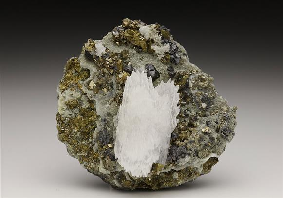 CALCITE with CHALCOPYRITE and SPHALERITE