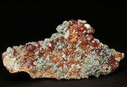 GROSSULAR GARNET var Hessonite with CHLORITE