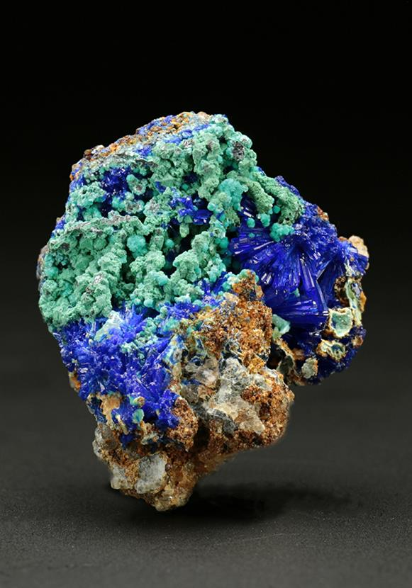 Linarite with Aurichalcite and Malachite